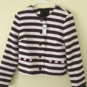 Banana Republic Striped Blazer Jacket